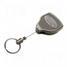 "Super48™ Heavy-Duty Retractable Key Holder, Polycarbonate, 48"" Cable, Belt Clip Attachment"