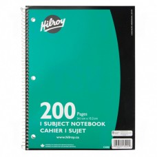 "NOTEBOOK SPRL 9""X6"" 200PG"