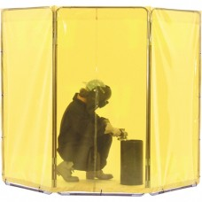 Welding Screen and Frame, 3 Panels, Yellow, 5' x 3'