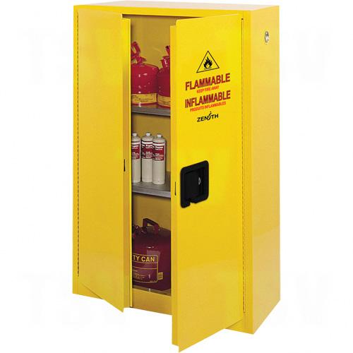 """Flammable Storage Cabinet, 45 gal., 2 Door, 43"""" W x 65"""" H x 18"""" D"""