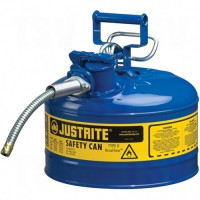 AccuFlow™ Safety Cans, Type II, Steel, 2.5 US gal., Blue, FM Approved/UL/ULC Listed