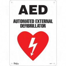 """AED Automated External Defibrillator"" Pictogram Sign"