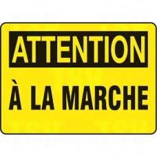 """""""À la marche"""" Sign, 10"""" x 14"""", Aluminum, French Each"""