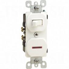 15A 120V AC 1/2HP @ 120V Switch 1/25 Watt 120V Neon Pilot Light - Single-Pole Switch & Neon Pilot Light